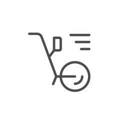 Odometr line outline modern icon vector