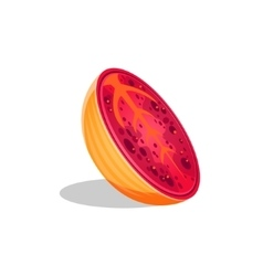 Papaya Fruit Cut In Half Bright Icon vector