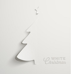 paper cut white christmas vector image