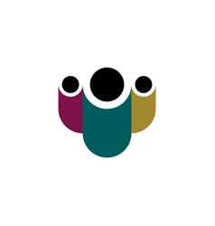 parrent with children logo geometric icon vector image