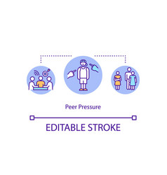 Peer pressure concept icon vector