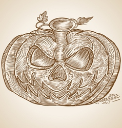 PUMPKING VINTAGE vector image