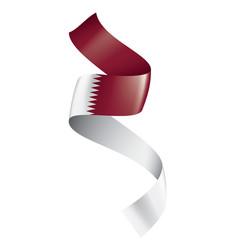 Qatar flag on a white vector