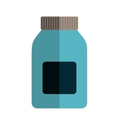 Remedy wide bottle with tap and label vector