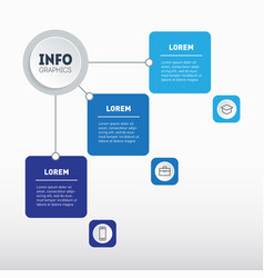 Report for 3 months infographics or mindmap vector
