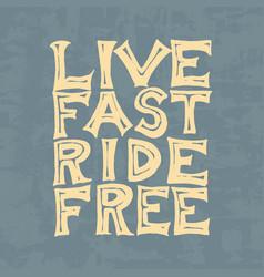 Rider or biker club template vintage custom vector