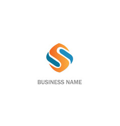 s initial business company logo vector image