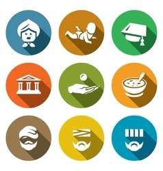 Set of Social Payment Icons Pension Child vector image