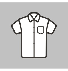 Shirt icon on background vector image