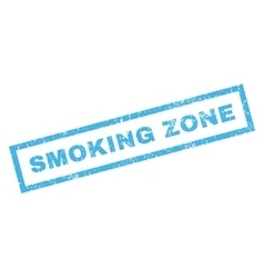 Smoking Zone Rubber Stamp vector