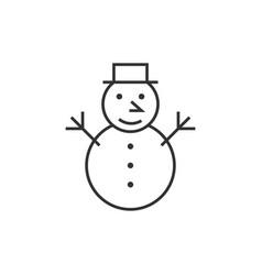 snowman line icon vector image