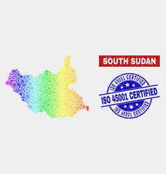 spectrum tools south sudan map and grunge iso vector image