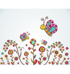 Spring nice flower background vector image