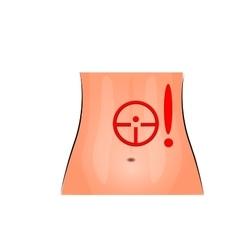 stomach pain female abdomen vector image