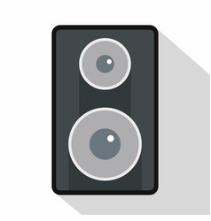 Subwoofer icon flat style vector