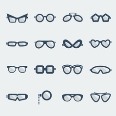 Sunglasses and glasses vector image
