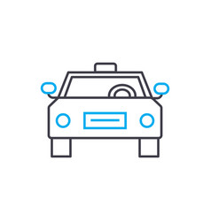 taxi service thin line stroke icon taxi vector image