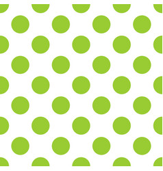 tile pattern with green polka dots on white vector image