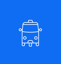 Tuk taxi icon on blue line vector