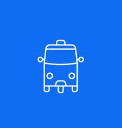 tuk tuk taxi icon on blue line vector image