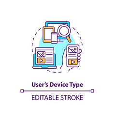 user device type concept icon vector image