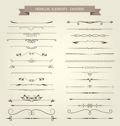 Vintage book vignettes dividers and separators vector