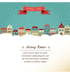 Vintage Xmas greeting card and background with vector image