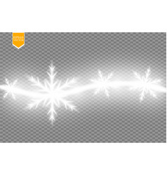 wave stars and snowflakes trail effect on vector image