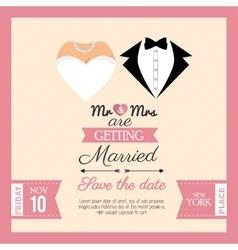 Wedding invitation concept card vector