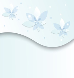 white blue flowers on a light background vector image