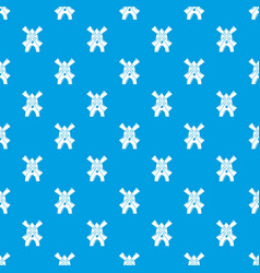 windmill pattern seamless blue vector image