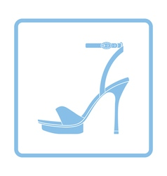 Woman high heel sandal icon vector