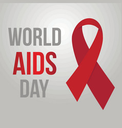 world aids day background vector image