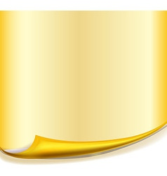 Yellow Paper With Roll Curved Corner vector image