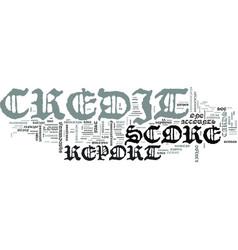 Z credit score report text word cloud concept vector
