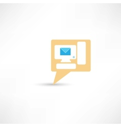 email on pc computer vector image vector image