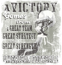football victory vector image vector image