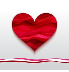 Heart Made from Color Stripes vector image
