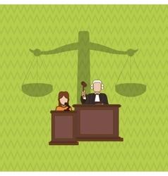 Judge icon design vector image vector image