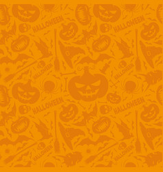 Orange halloween background vector