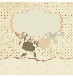 Vintage Roses Floral Card vector image vector image