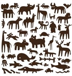 animals - doodles vector image