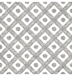 Silvery seamless pattern of diagonal lines and vector image vector image
