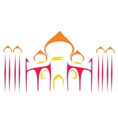 Temple symbol vector image vector image