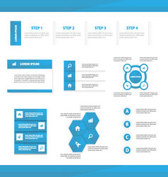 Blue multipurpose website templates infographic vector
