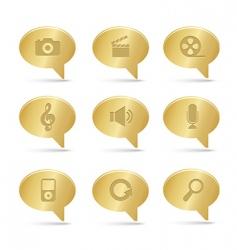 bronze bubbles multimedia vector image vector image