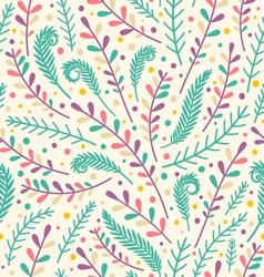 Floral holiday pattern vector image vector image