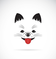 image of an pomeranian dog vector image