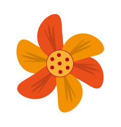 orange flower icon image vector image