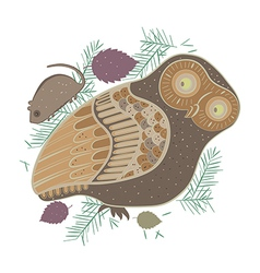 owl and mouse vector image